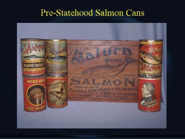 Pre-Statehood Salmon Cans