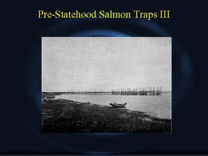 Pre-Statehood Salmon Traps III