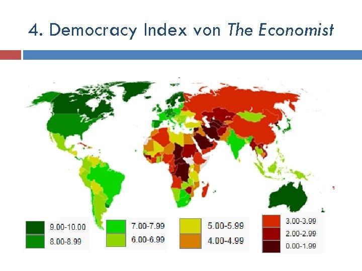 4. Democracy Index von The Economist