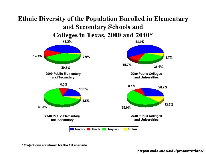 Ethnic Diversity of the Population Enrolled in Elementary and Secondary Schools and Colleges in