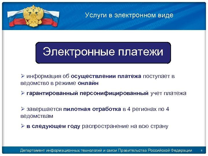 © 2009 D. Kleymenov Услуги в электронном виде Электронные платежи Ø информация об осуществлении