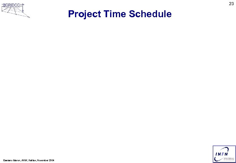 23 Project Time Schedule Gaetano Maron, ANW, Halifax, November 2004