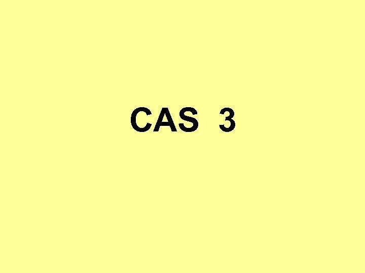 CAS 3