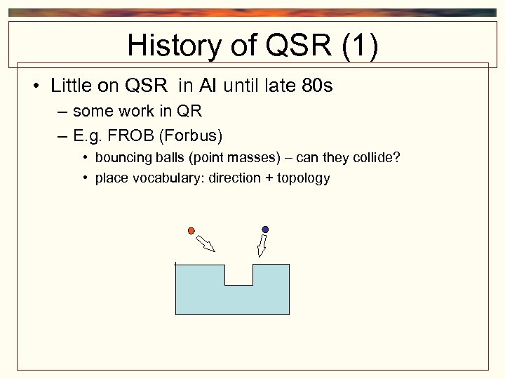 History of QSR (1) • Little on QSR in AI until late 80 s