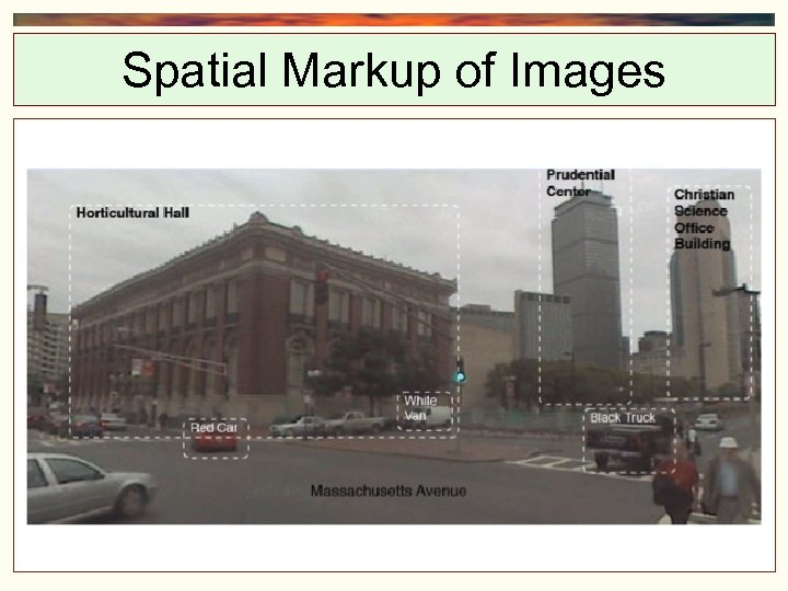 Spatial Markup of Images Mapping from Spatial Event Structures to RCC 8 relations