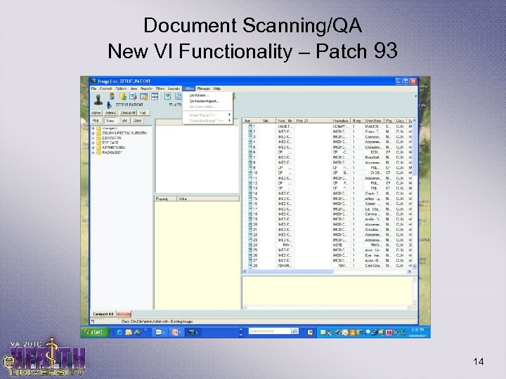 Document Scanning/QA New VI Functionality – Patch 93 14