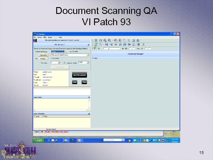 Document Scanning QA VI Patch 93 15