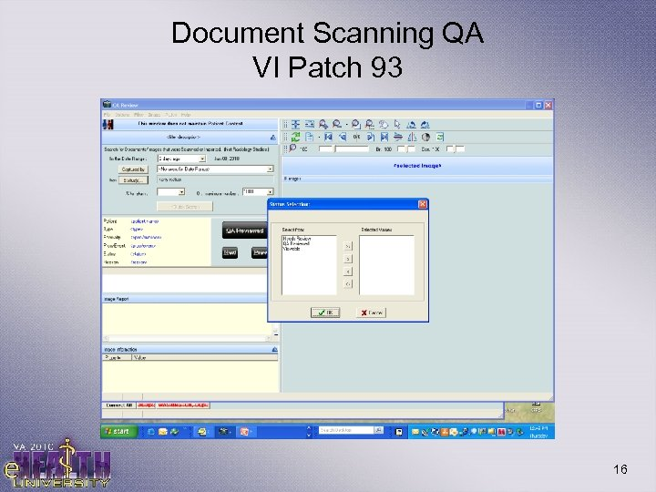 Document Scanning QA VI Patch 93 16