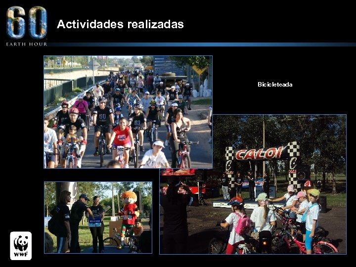 Actividades realizadas Bicicleteada