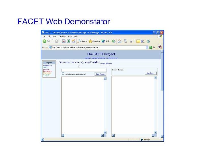 FACET Web Demonstator