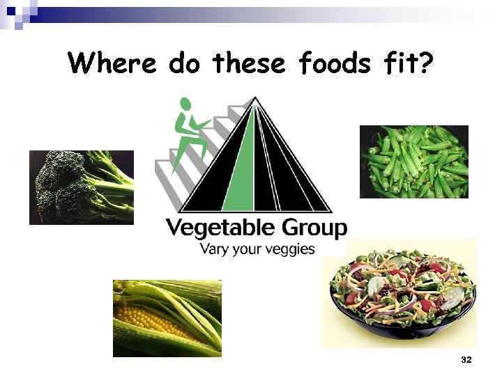 Where do these foods fit? 32