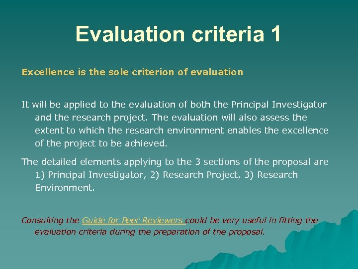 an overview of the three criteria for the evaluation of effective teamgroup work Criteria for the evaluation of oral presentations content accuracy and originality of facts and evidence presented (both orally and visually) adequacy and persuasiveness of presentation relative to topics covered use of appropriate range and quantity of sources, clear identification of sources.