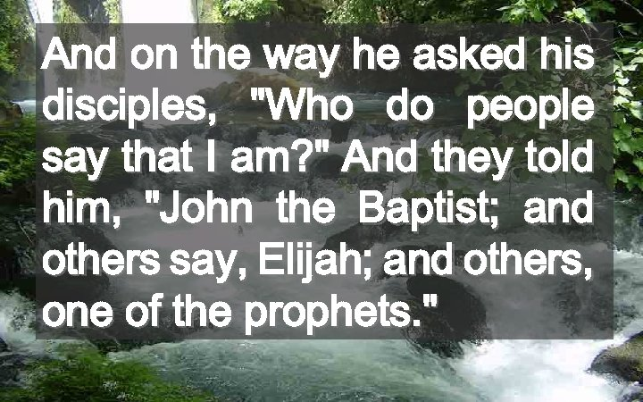 And on the way he asked his disciples,