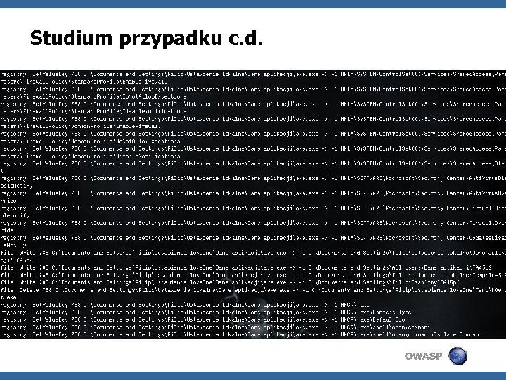 Studium przypadku c. d. OWASP
