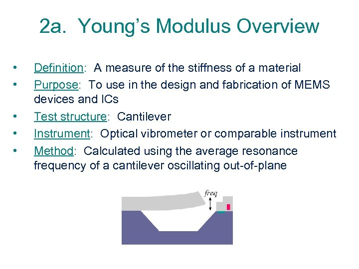 2 a. Young's Modulus Overview • • • Definition: A measure of the stiffness
