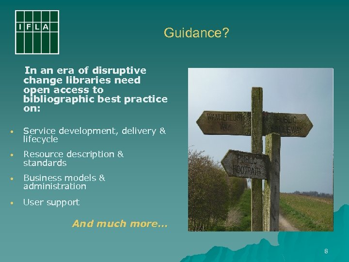 Guidance? In an era of disruptive change libraries need open access to bibliographic best