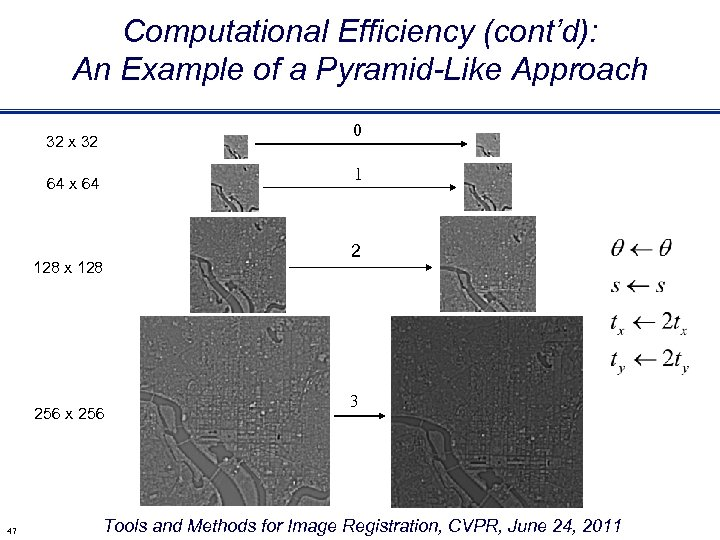 Computational Efficiency (cont'd): An Example of a Pyramid-Like Approach 0 32 x 32 1