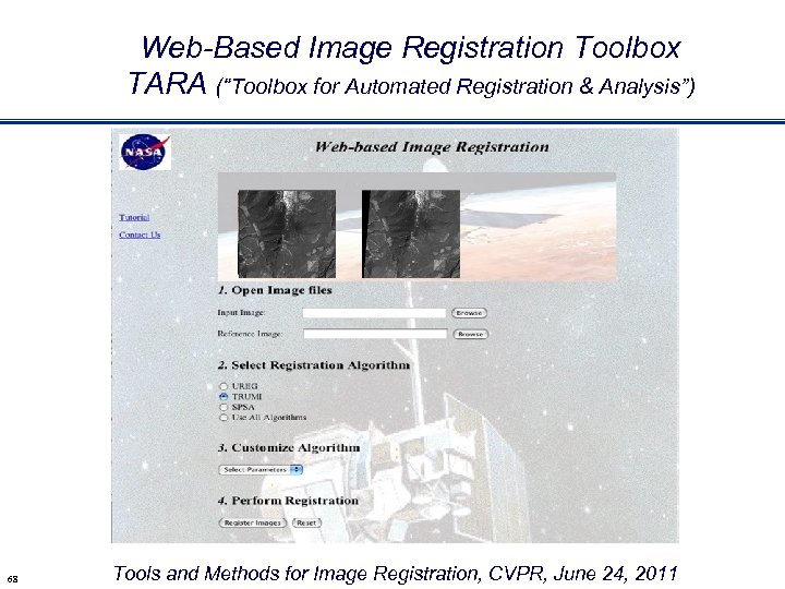 """Web-Based Image Registration Toolbox TARA (""""Toolbox for Automated Registration & Analysis"""") 68 Tools and"""