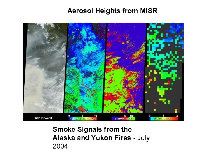 Aerosol Heights from MISR Smoke Signals from the Alaska and Yukon Fires - July