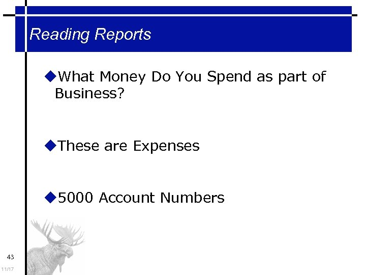 Reading Reports What Money Do You Spend as part of Business? These are Expenses