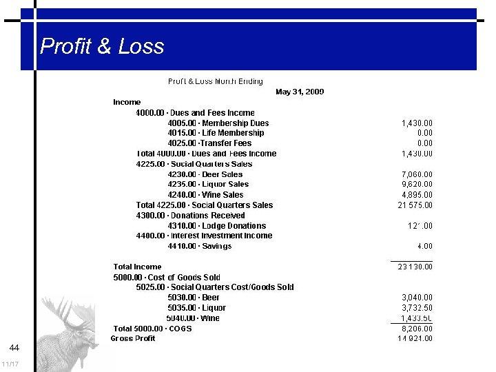 Profit & Loss 44 11/17