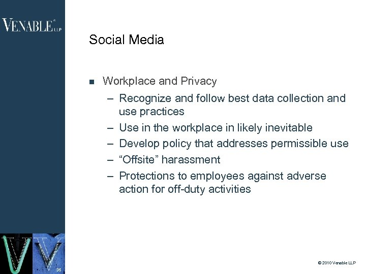 Social Media Workplace and Privacy – Recognize and follow best data collection and use