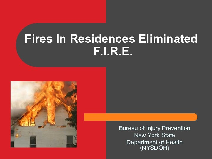 Fires In Residences Eliminated F. I. R. E. Bureau of Injury Prevention New York
