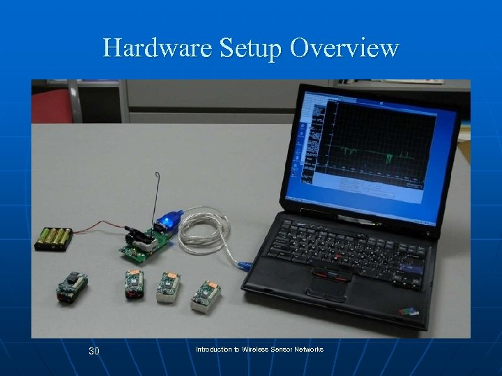 Hardware Setup Overview 30 Introduction to Wireless Sensor Networks