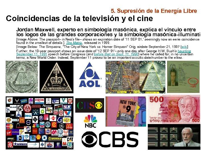 5. Supresión de la Energía Libre Coincidencias de la televisión y el cine Jordan