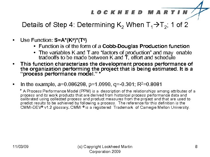 Details of Step 4: Determining K 2 When T 1 T 2; 1 of