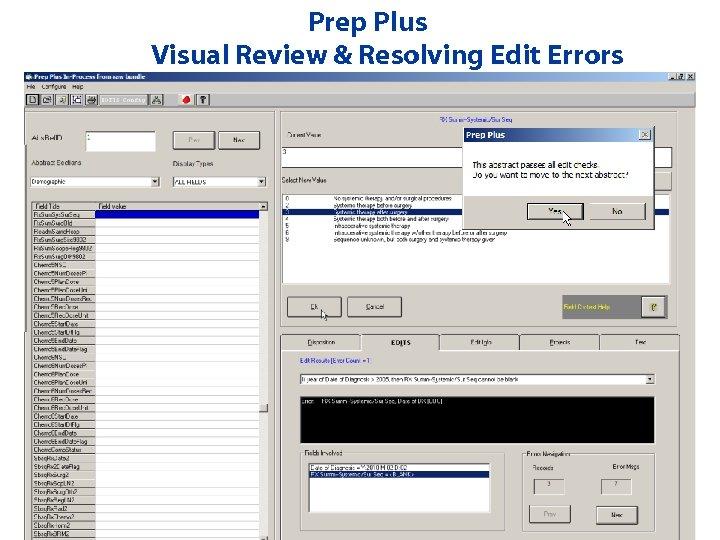 Prep Plus Visual Review & Resolving Edit Errors