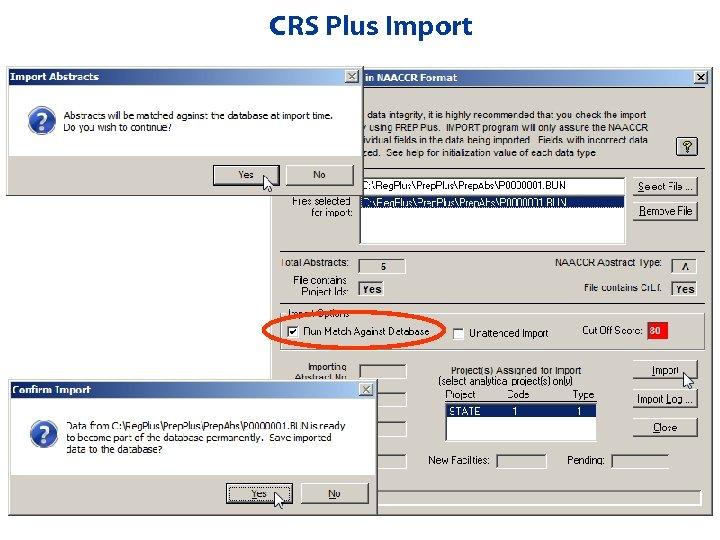 CRS Plus Import