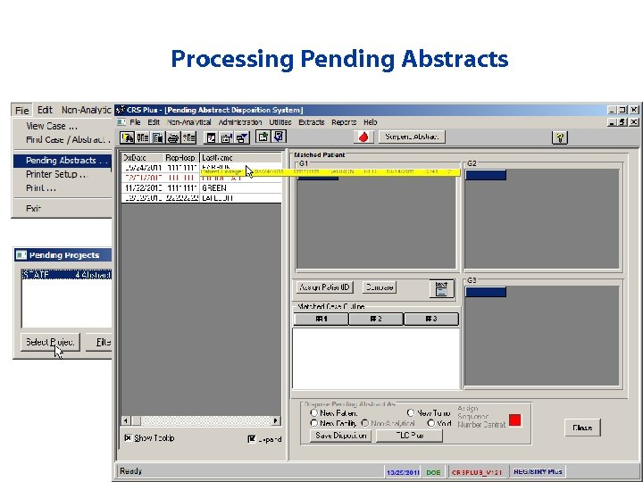 Processing Pending Abstracts