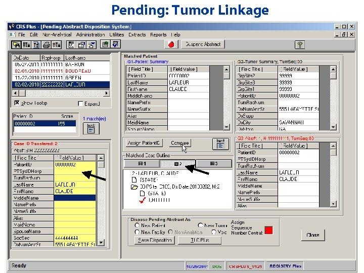 Pending: Tumor Linkage