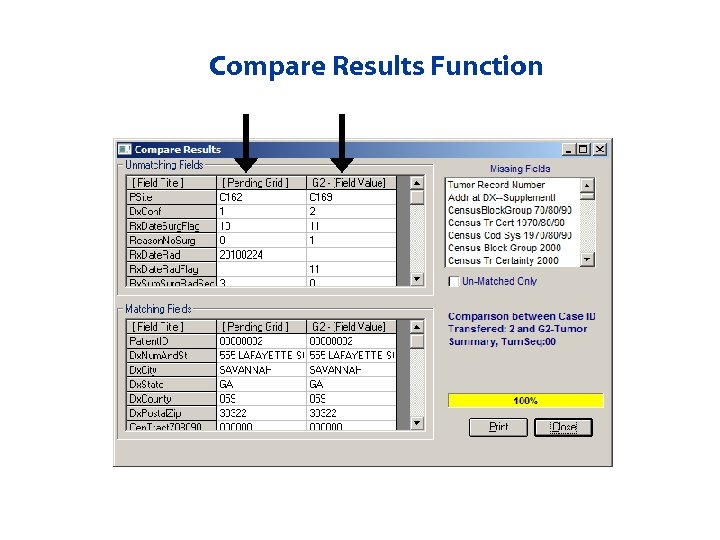Compare Results Function