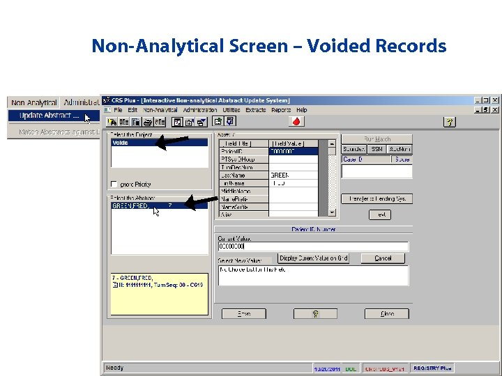 Non-Analytical Screen – Voided Records