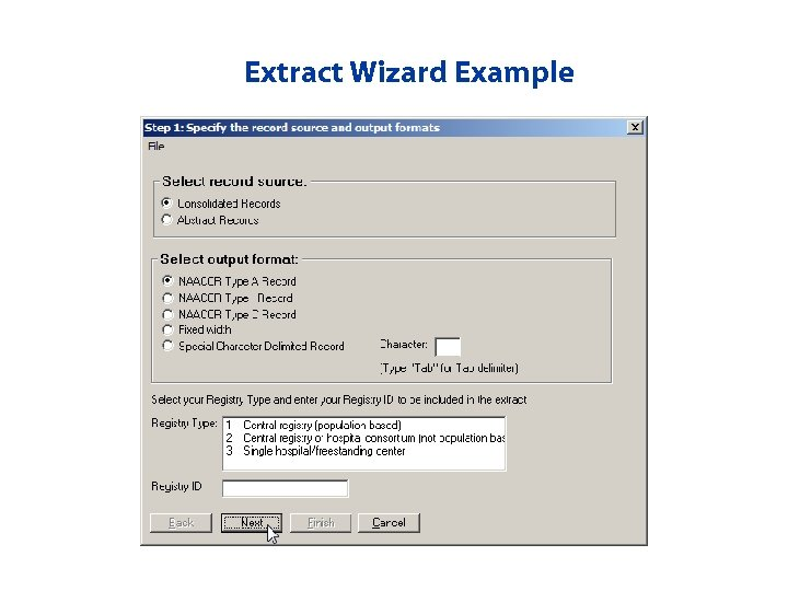 Extract Wizard Example
