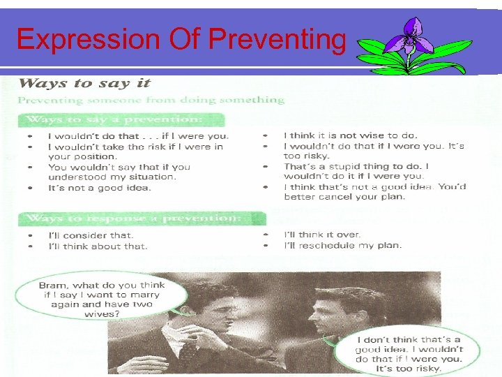 Expression Of Preventing