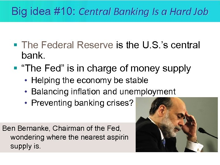 Big idea #10: Central Banking Is a Hard Job § The Federal Reserve is