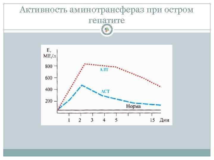 Активность аминотрансфераз при остром гепатите