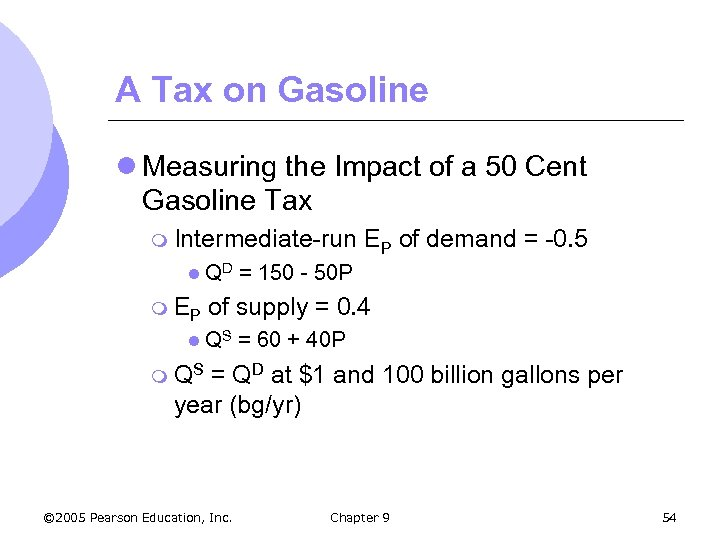 A Tax on Gasoline l Measuring the Impact of a 50 Cent Gasoline Tax