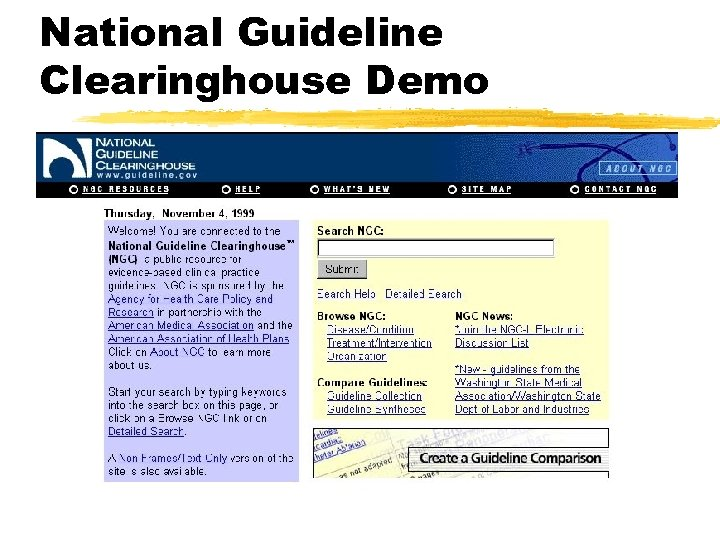 National Guideline Clearinghouse Demo