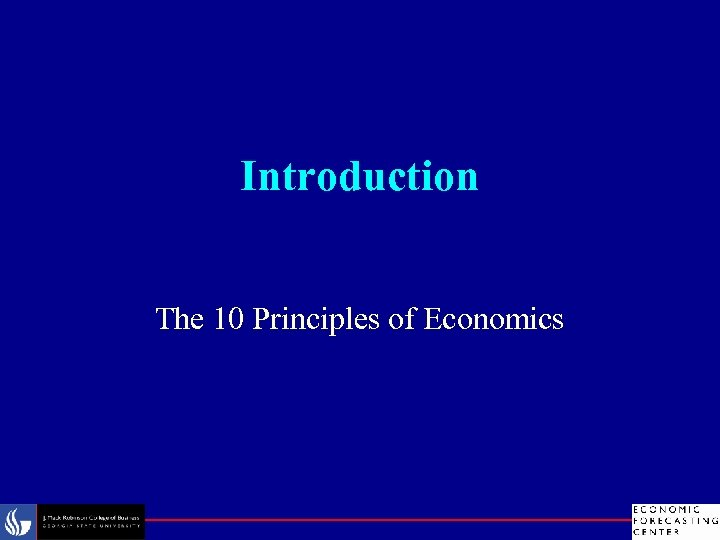 Introduction The 10 Principles of Economics