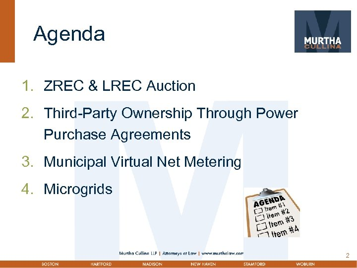 Agenda 1. ZREC & LREC Auction 2. Third-Party Ownership Through Power Purchase Agreements 3.