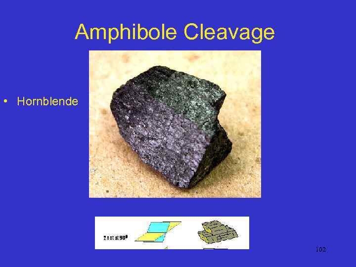 Amphibole Cleavage • Hornblende 102