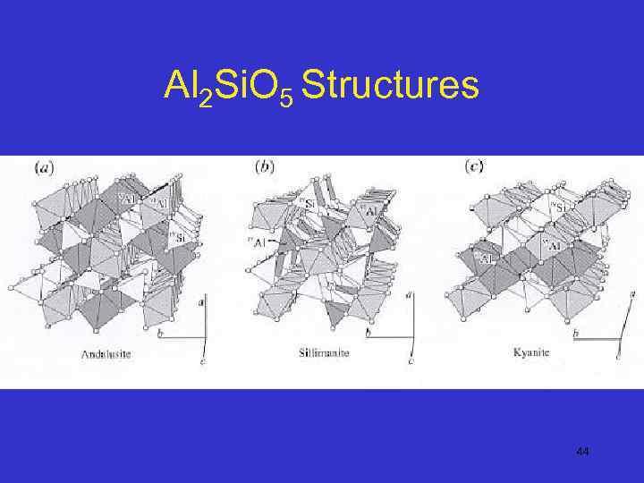 Al 2 Si. O 5 Structures 44