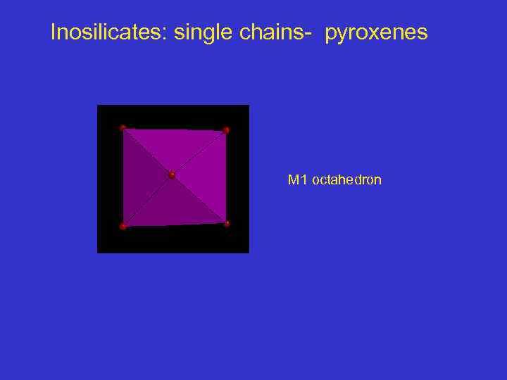 Inosilicates: single chains- pyroxenes M 1 octahedron