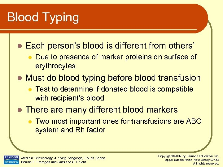 Blood Typing l Each person's blood is different from others' l l Must do