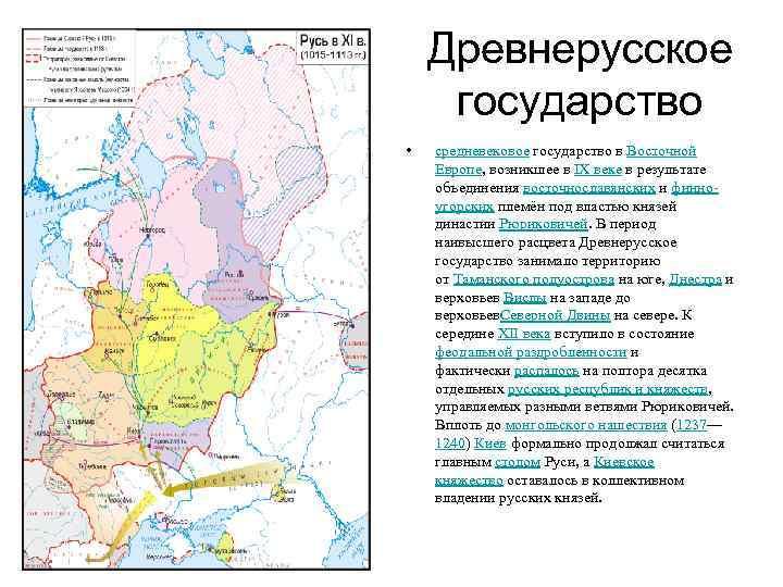 Древнерусское государство • средневековое государство в Восточной Европе, возникшее в IX веке в результате