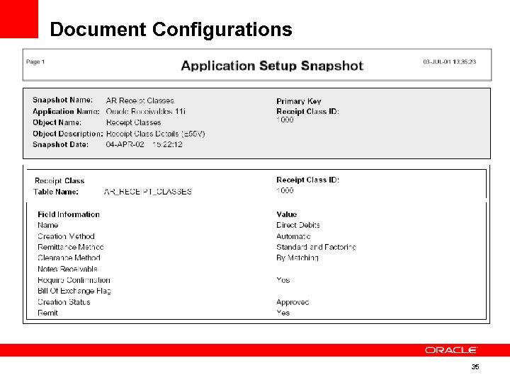Document Configurations 35